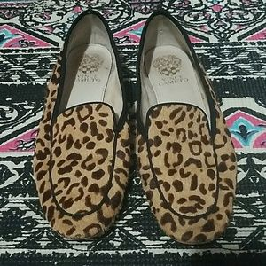 Vince Camuto leopard loafers